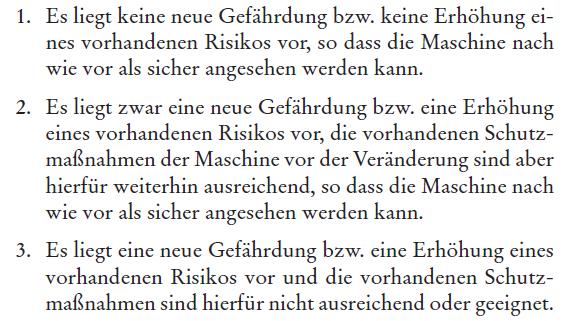 """Quelle: Interpretation zum Thema """"wesentliche Veränderung"""" in Bezug auf Maschinen, BMAS, April 2015"""