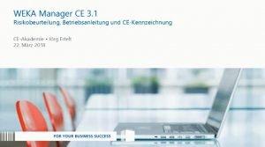 Risikobeurteilung, Betriebsanleitung und CE-Kennzeichnung mit Software leicht gemacht