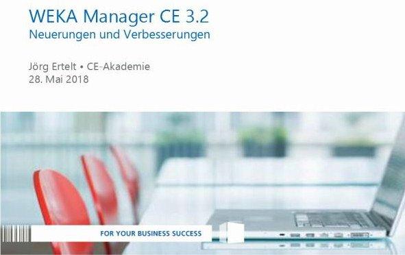 Update-Webinar für WEKA Manager CE Version 3.2