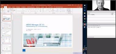 Mit dem aufgezeichneten Webinar werden Sie in ca. einer Stunde in die Grundlagen der Software WEKA Manager CE eingeführt.