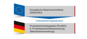 In Deutschland wird die Maschinenrichtlinie durch das Produktsicherheitsgesetz umgesetzt.