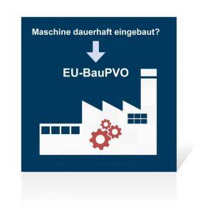 Wird eine Maschine dauerhaft in ein Bauwerk integriert, muss der Maschinenhersteller die Anforderungen der europäischen Bauproduktenverordnung erfüllen.